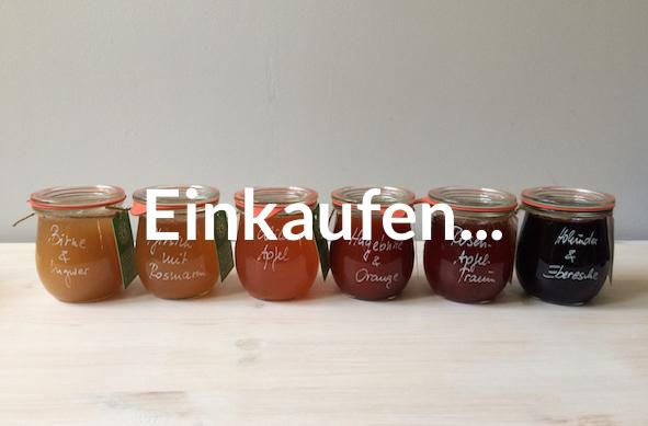 Marmeladenübersicht und Einkaufen